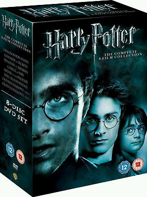 Harry Potter Complete 1-8 Movie DVD Collection Films Box Set New Seal