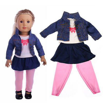 1Set Cute Baby Born Mini Doll 43cm Clothes Wear zapf for American Girl Doll Set