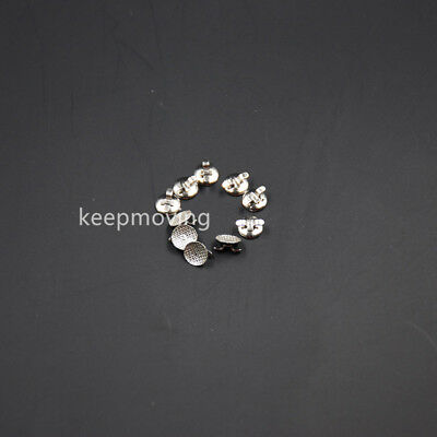 100x Dental Orthodontic Lingual Button Bondable Double Wing With Cleat Mesh Base