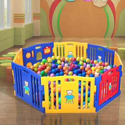 Home Indoor Outdoor Pen Baby Playpen Kids Panel Safety Play Center Yard