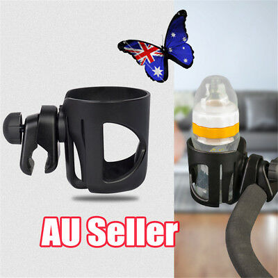Baby Stroller Buggy Pram Pushchair Drink Bottle Cup Holder Clip Hanger BK