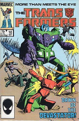 Marvel Transformers #10 Introduction 1st Devastator  vf+ classic vintage G1