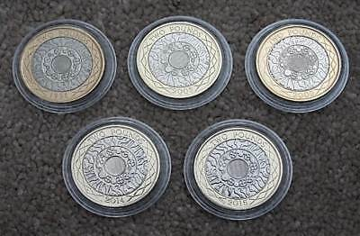 £2 Two Pound Coins 2003 2005 2014 2015 BU Standing On The Shoulder Of Giants