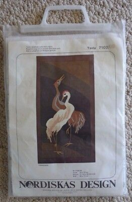 TAVLA LONGSTITCH - TRANDANS - CRANE BIRDS - KIT No 7102 - UNUSED KIT - SWEDEN