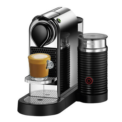 NEW Breville Nespresso CitiZ & Milk Chrome Coffee Machine