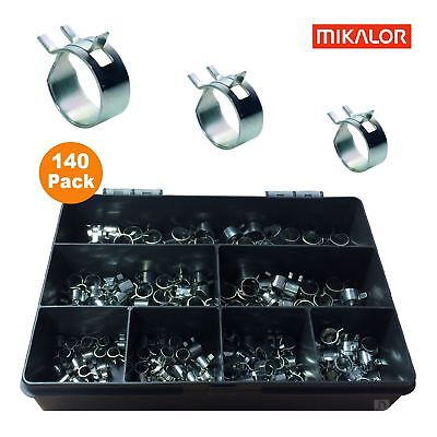 10 x 11mm Mikalor W1 Self Clamping Spring Hose Clips Silicone Pipe Air Fuel Band