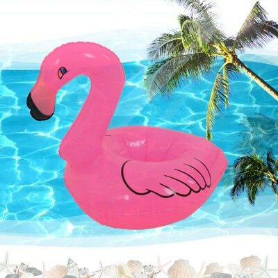 Inflatable Flamingo Cell Phone Drink Can Holder Stand Coasters Float Pool Toy