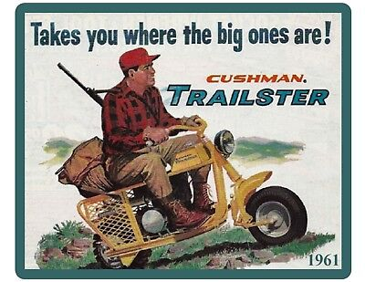 1961 Cushman Trailster Motor Scooter Refrigerator / Tool Box Magnet