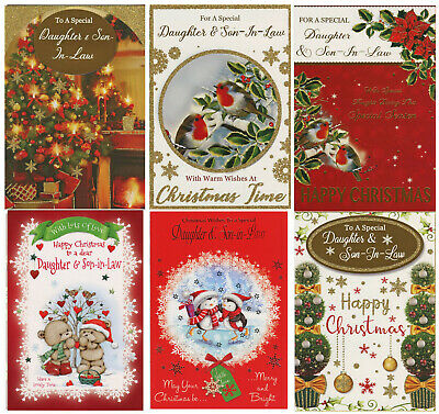 Cute To A Special Daughter And Son-In-Law Christmas Card 1Stp&p Greeting Cards