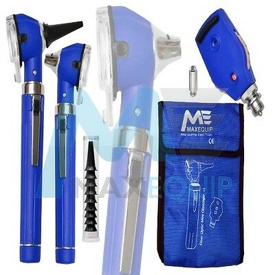 F.O Otoscope Ophthalmoscope Opthalmoscope Examination LED Diagnostic ENT BLUE ce