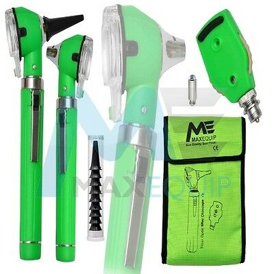 F.O Otoscope Ophthalmoscope Opthalmoscope Examination LED Diagnostic ENT GREEN