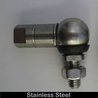 Stainless Steel Motorcycle Gear Link M6 Ball & Socket Joint 10mm Left Hand - HLS