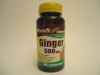 60 CAPSULES GINGER ROOT 500 mg circulation DIGESTIVE STOMACH DIGESTION HEALTH