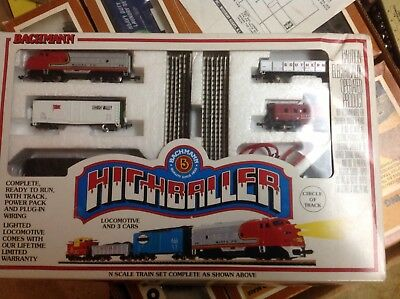 N scale bachmann train set