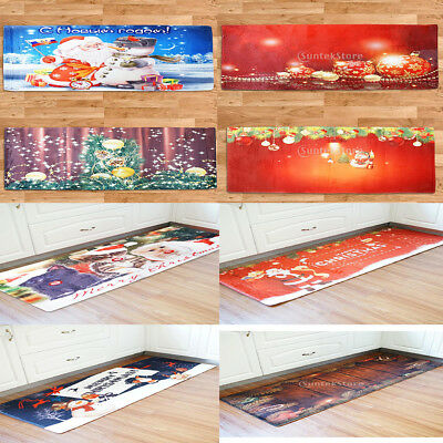 Xmas Print Extra Long Floor Runner Room Area Rug Carpet Doormat 60x180cm