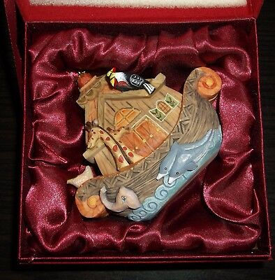 2010 Noah's Ark Wrapped Wishes G. Debrekht Artistic Studios Made In Russia!