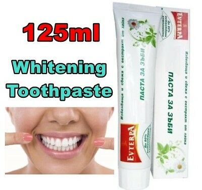 Evterpa Natural Whitening Toothpaste with Camomile Extarct 125ml