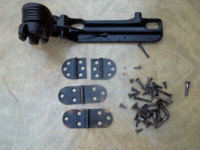 Salvaged Singer Treadle Sewing Machine Lift Spring, Hinges & Screws, Free S/H