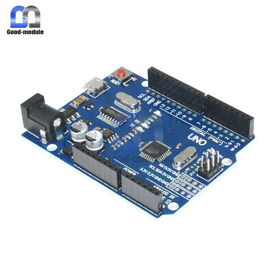 Arduino UNO R3 ATMEGA328P-16AU CH340G Micro USB Latest Version Board