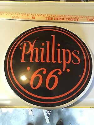 Phillips 66 Round Collectible Metal Sign