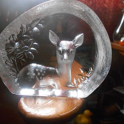 Mats Jonasson glass fawn