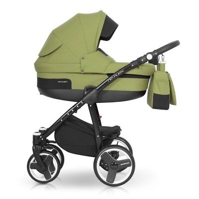 RIKO BRANO RE-FLEX PRAM 3in1 CARRYCOT + PUSH CHAIR + CAR SEAT + EXTRAS !!!