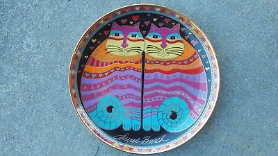 Vtg 1995 LAUREL BURCH Friendly Felines Franklin Mint Ltd Ed fine CATS cat plate