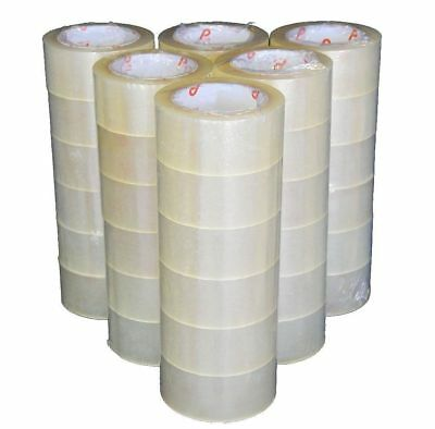 72 ROLLS - 2 INCH x 110 Yards (330 ft) Clear Carton Sealing Packing Package Tape