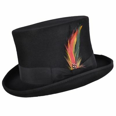 Quality Hand Made 100% Wool Top Hat Wedding Ascot Hat Many Colours S to XL