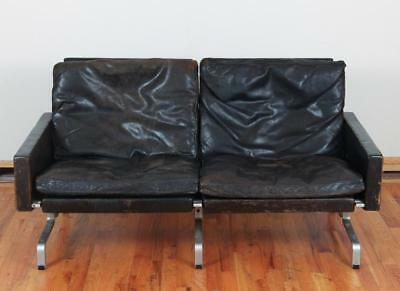 Pair Poul Kjaerholm Leather Sofas Lot 91