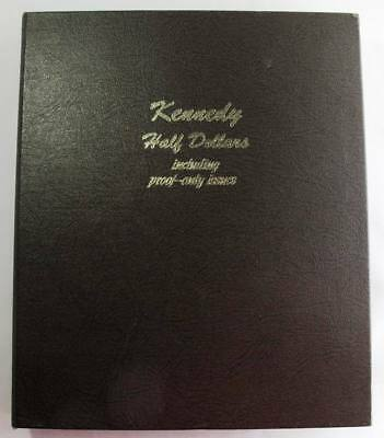 Kennedy Half Dollars including Proofs 1964-2007 8166 Dansco with History Guide