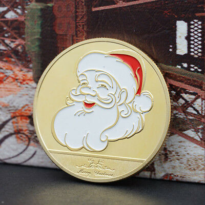 2017 Santa Claus With Elk Commemorative Coin Collection Gift NEW pop