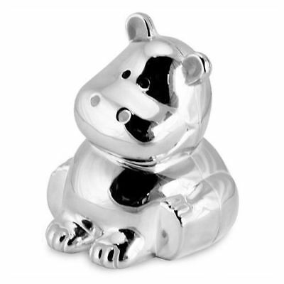 SILVER PLATED HIPPO MONEY BOX - Christening Gift - Silver Plated HIPPO Money Box