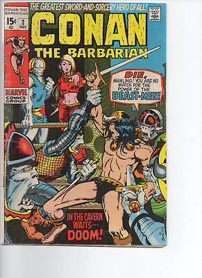 Conan the Barbarian #2 (Dec 1970, Marvel)