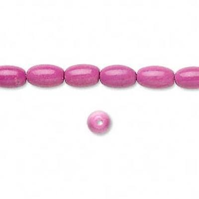 8606 Beads Magnesite Pink Oval 8mm 16inch *UK EBAY SHOP*