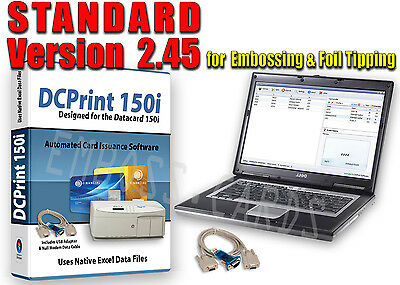 NOTEBOOK + DCPrint 150i STANDARD Card Software BUNDLE for Datacard 150i Embosser