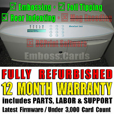 Datacard 150i Card Embosser | Topper | Rear Indenter | +12 MONTH WARRANTY