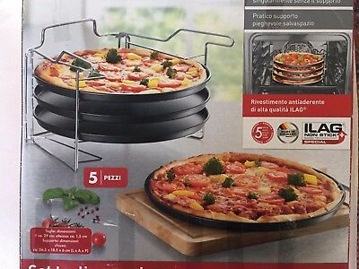 SET PIATTI PIZZA TONDA 29,5 cm ANTIADERENTE