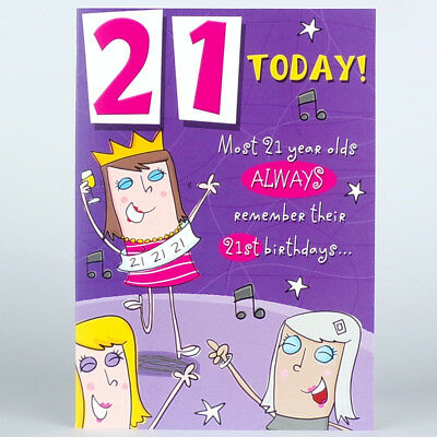 FUNNY 21st BIRTHDAY CARD 21 Today HUMOROUS Rude Joke GREETINGS Card