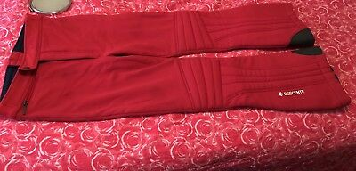 Descente Men's Used Size Large 32 Lined Shell Ski Snowboard Snow Pants Red