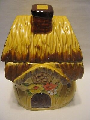Vintage 1950's Japan Shoe House Ceramic Cookie Jar