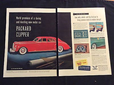 1941 Original 2-Page Print Ad -Packard Clipper - 6 Lines Of Cars, 41 Body Styles