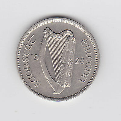 1928 Irish One Sixpence Coin (Nickel) - Very Nice Vintage Coin