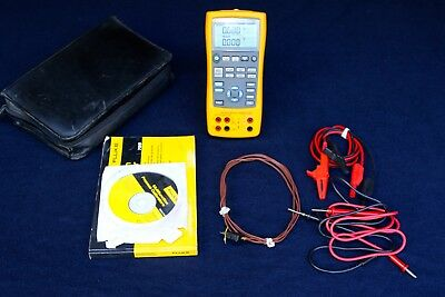 Fluke 725 Multifunction Process Meter W/ Case Manual Cd And Leads
