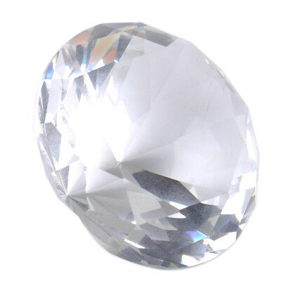 60mm Clear Crystal Diamond Shape Paperweight Glass Gem Display Ornament Gift
