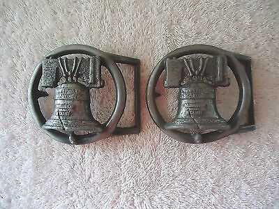 """Vintage Lot Of 2 """" NOS """" ? Liberty Bell Belt Buckles """" GREAT COLLECTIBLE ITEMS """""""