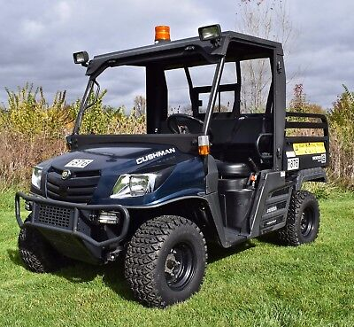 2015 Cushman 1600XD 4WD Diesel with hydraulic bed and full cab - 17 hours