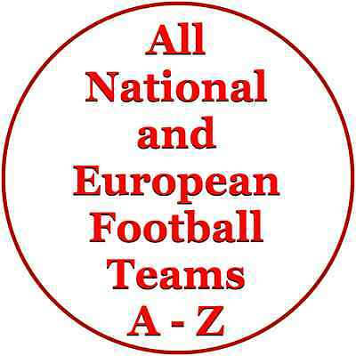 WORLD's ALL FOOTBALL TEAMS ICING & RICE PAPER PERSONALISED CAKE & CUPCAKE TOPPER