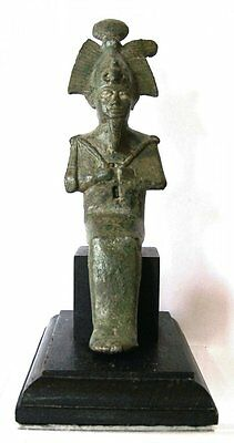 Ancient Egyptian Bronze Seated Osiris.