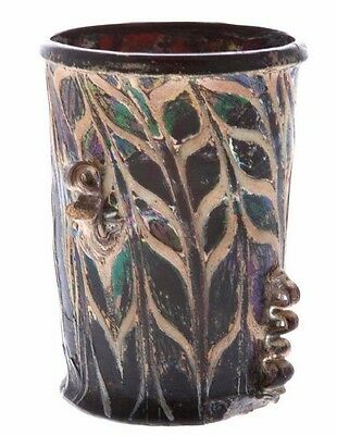 RARE Ancient Roman Mosaic Glass Cup